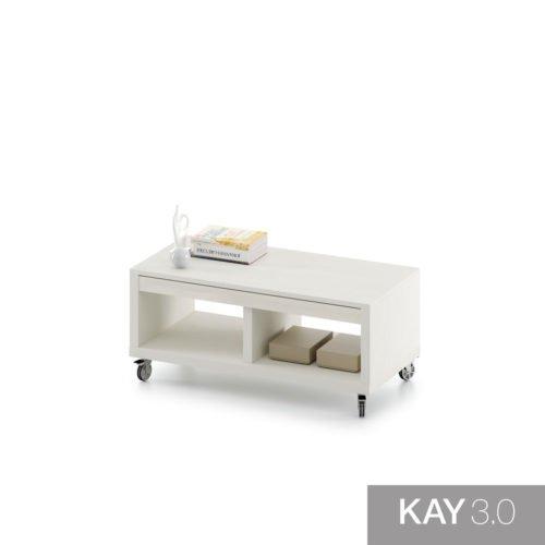 Mesa de centro con ruedas y elevable con cajón para guardar objetos