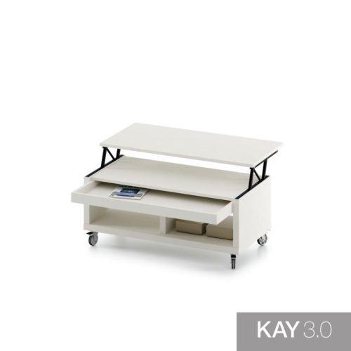 Mesa de centro elevable con cajón modelo H