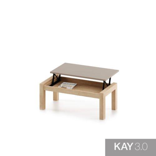 Mesa de centro elevable modelo U abierta