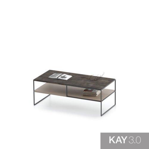 Mesa de centro con las patas de metal modelo L