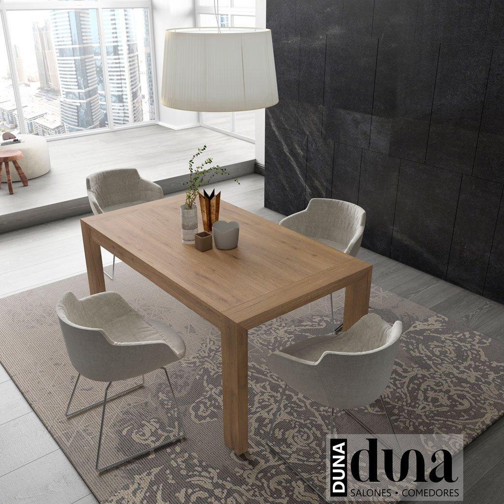 Mesa de comedor del catálogo Duna modelo U de 150x90 cm