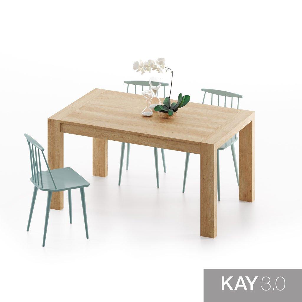 Mesa de comedor extensible modelo U toda en color Teka