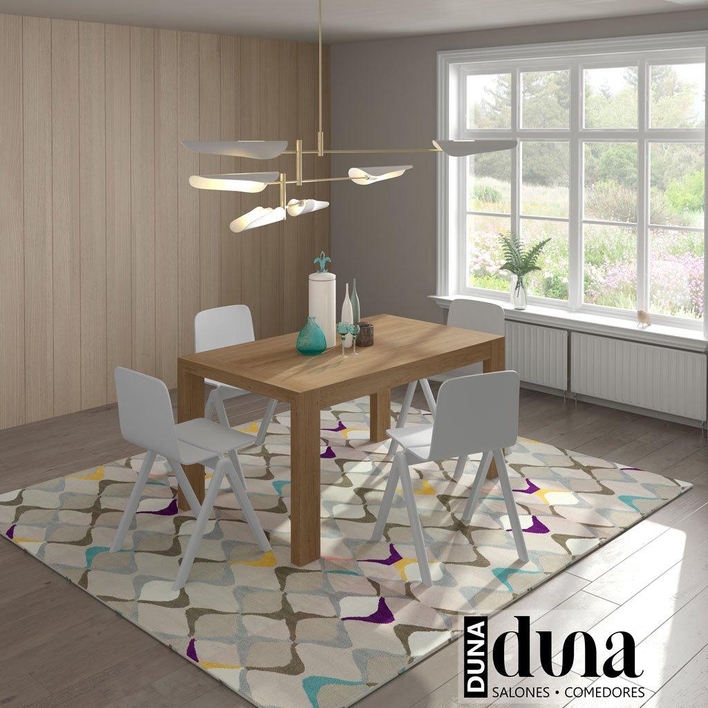 Mesa de comedor extensible modelo U 130x90 cm