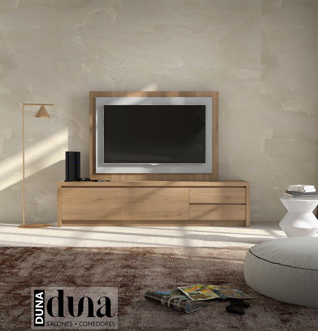 Mueble TV modelo D103C con puerta abatible y dos cajones