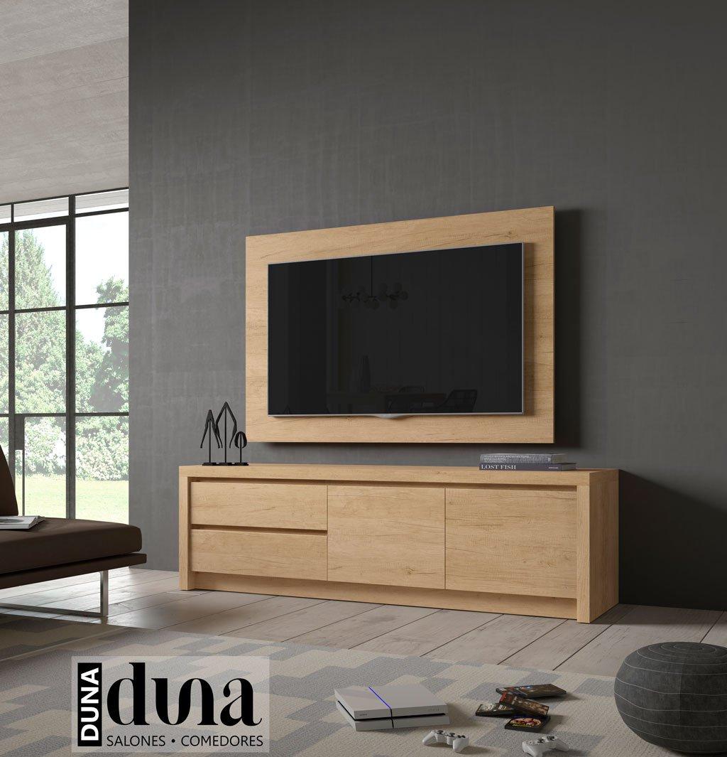 Mueble para TV modelo D101C con puertas y cajones