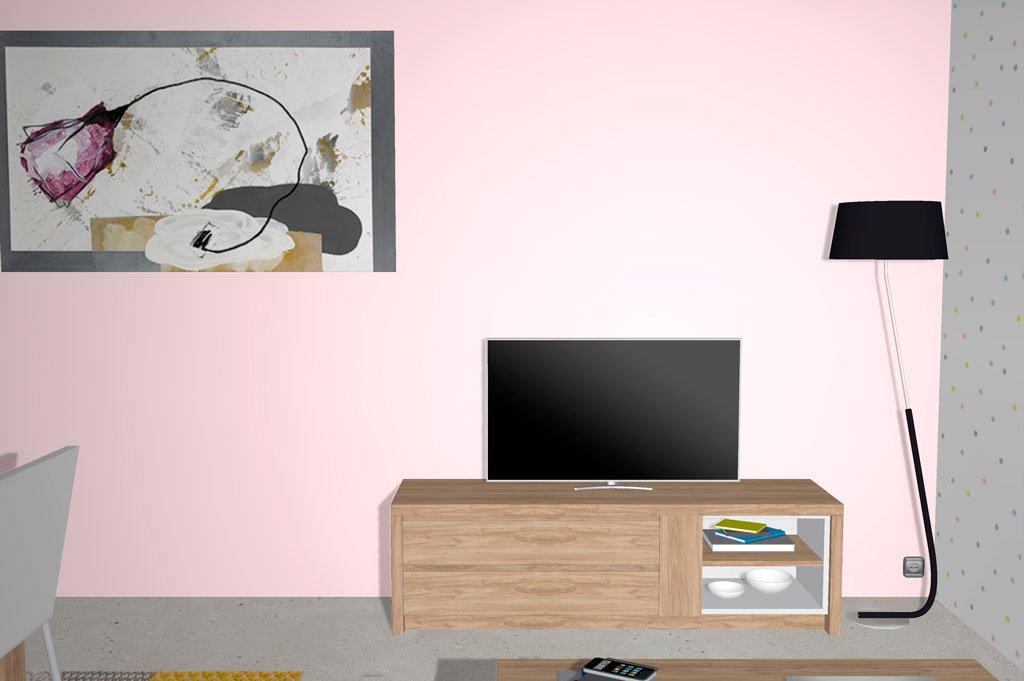 Mueble para la televisión bajo con cajones y hueco
