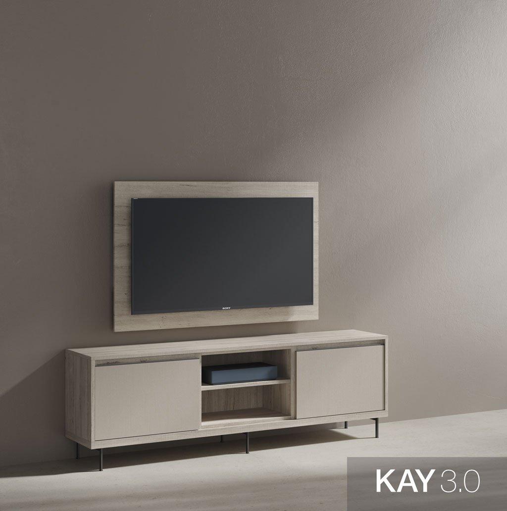 Mueble de televisión con panel tv giratorio 180 grados
