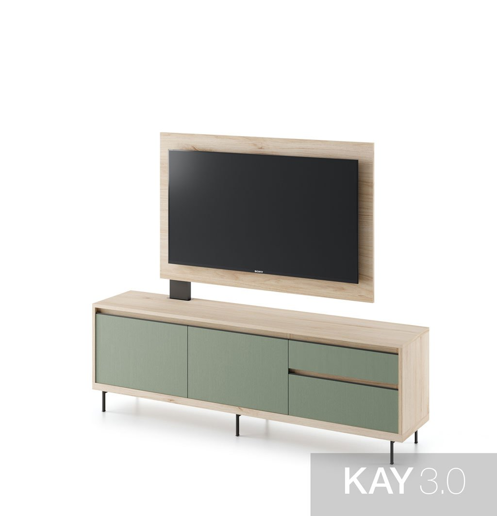 Mueble TV free standing SIN soportes a pared