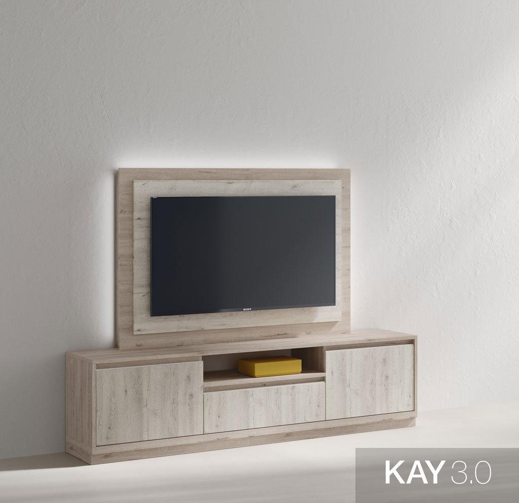 Mueble para televisión con luz led ambiental