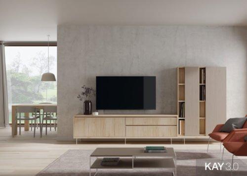 Muebles de salón comedor con soporte giratorio para la televisión