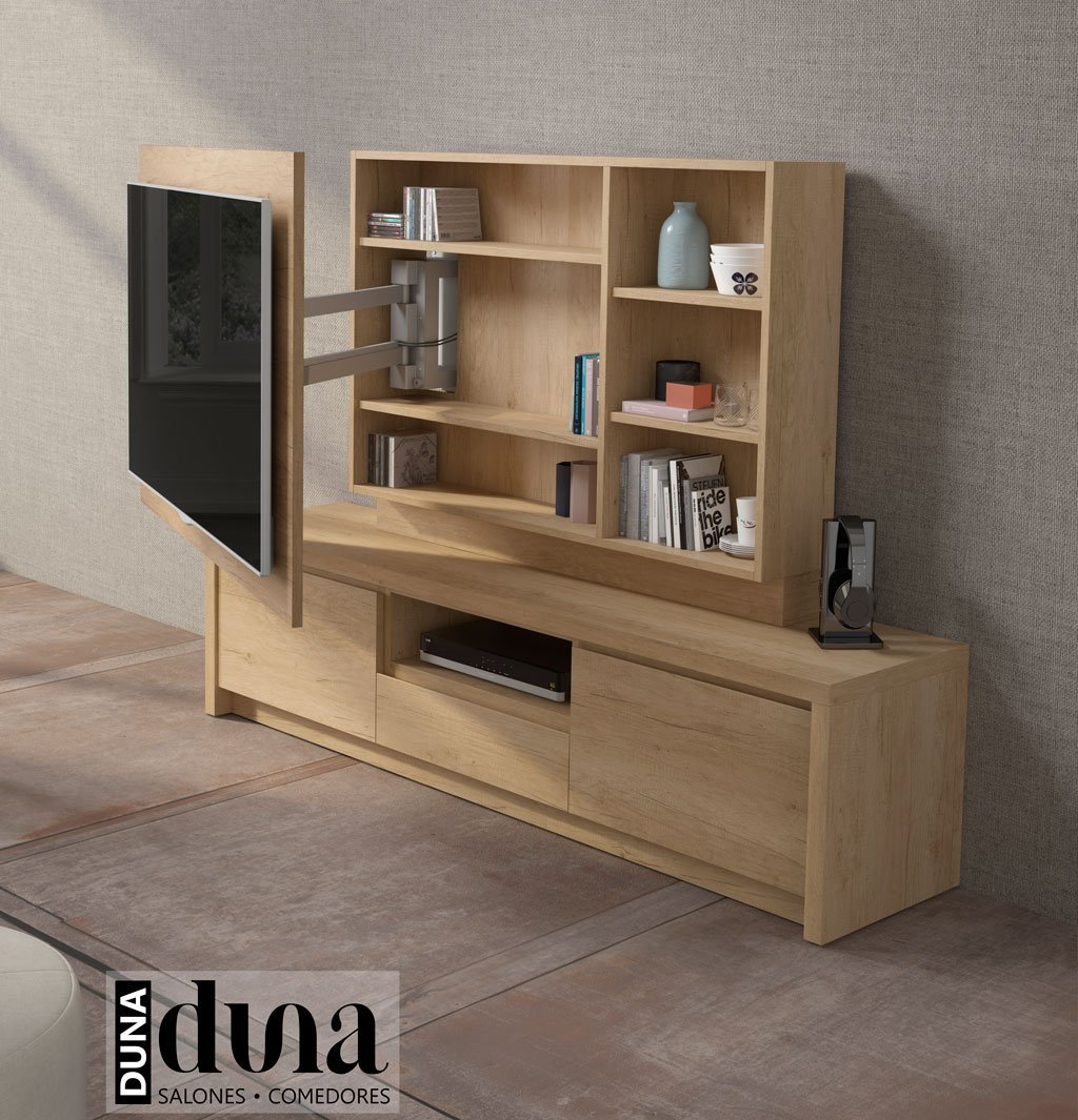 Mueble tv giratorio con estantes interiores modelo 103