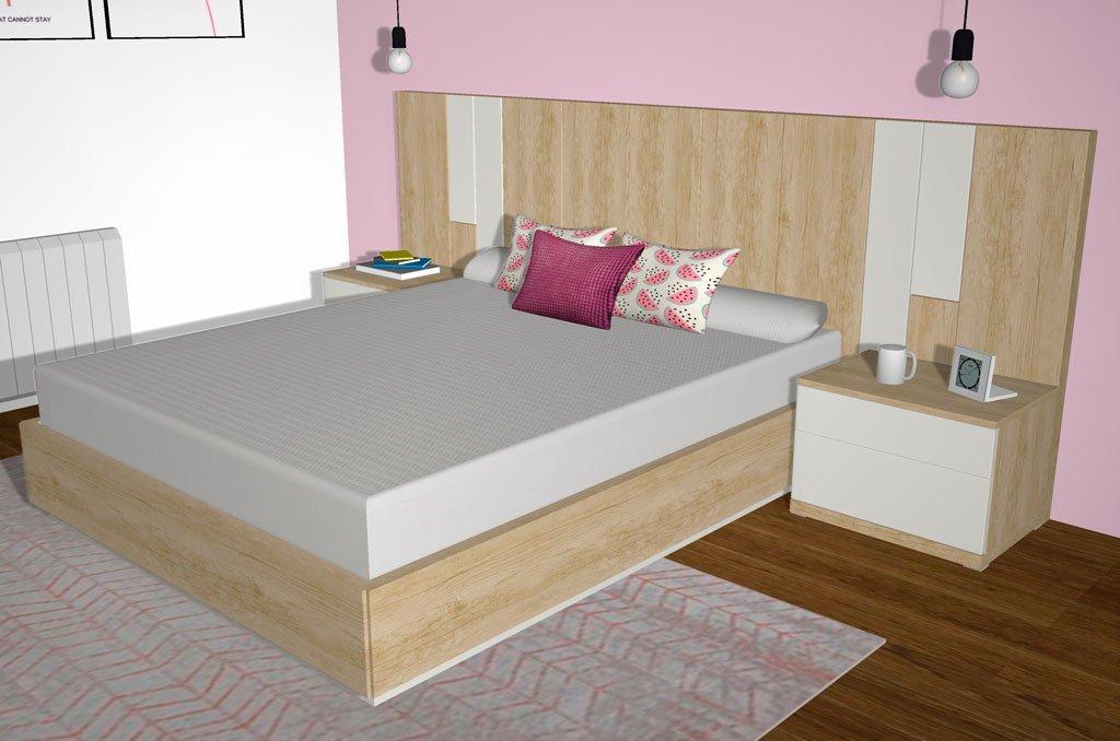 Combina dos colores en los muebles del dormitorio para tenerlo más personalizado