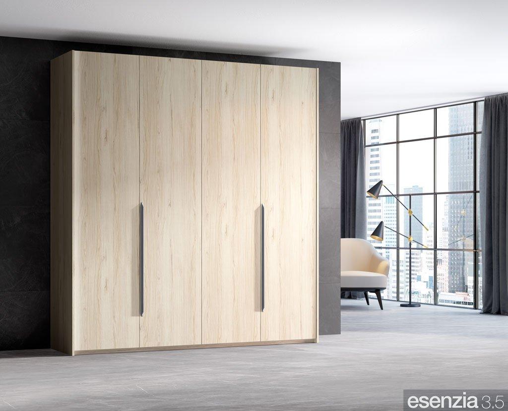 Armario color Bambú con cuatro puertas batientes
