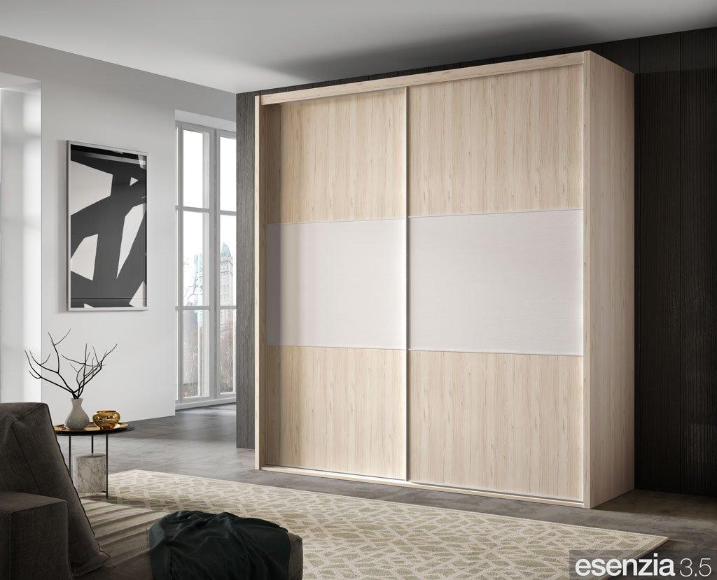 Armario de puertas correderas en color Bambú