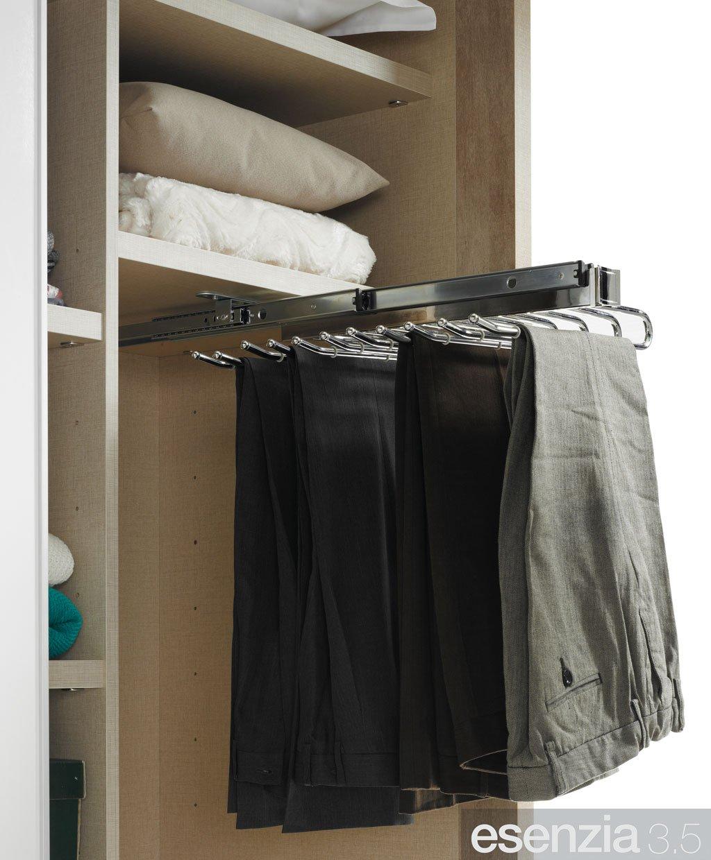 Complemento interior pra el armario pantalonero extraíble abierto