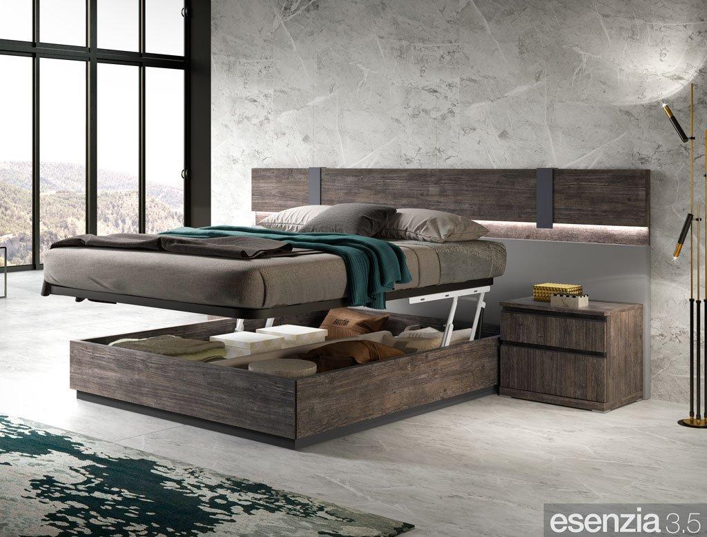 Detalle del canapé en posición horizontal para facilitar la labor de hacer la cama