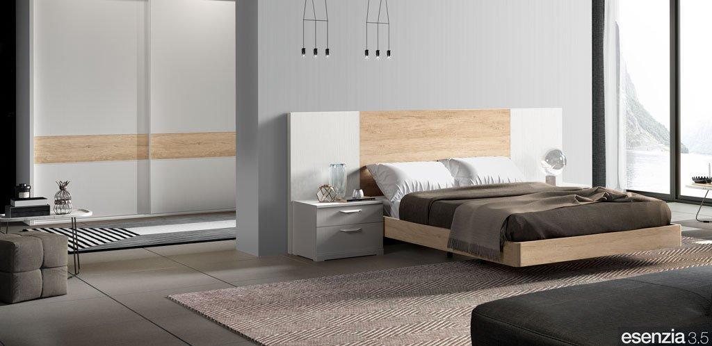 Dormitorio de matrimonio con el armario corredero con los colores a juego