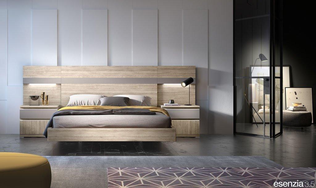 Dormitorio moderno con el cabezal de cama modelo California