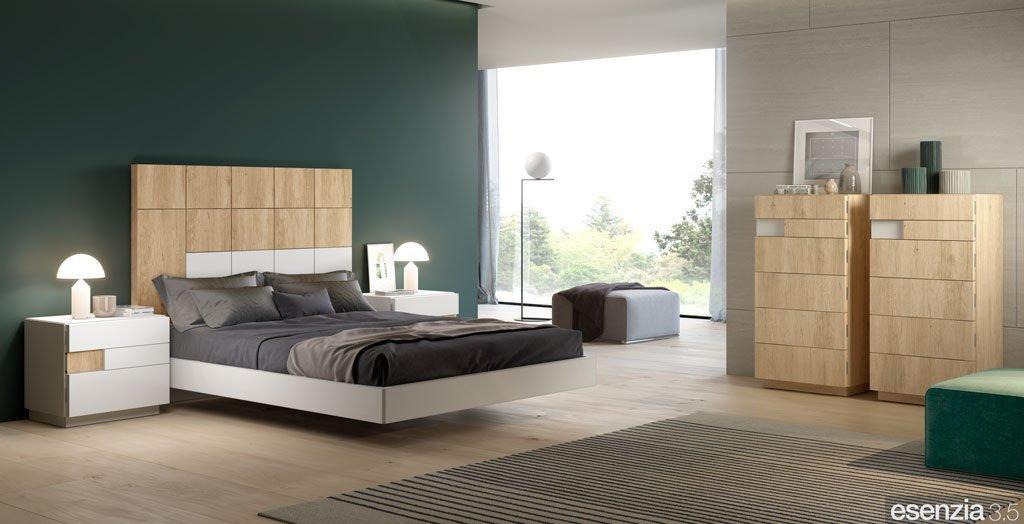 Habitación con el cabecero de cama alto modelo Minerva