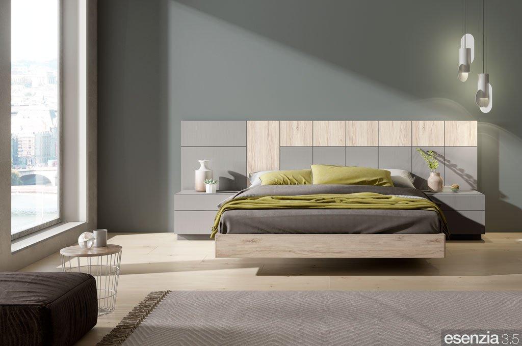 Habitación con el aro de cama suspendido modelo Vita