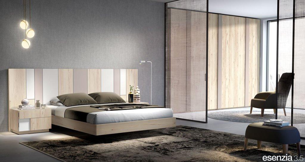 Habitación de matrimonio con el cabecero de cama modelo Colorado