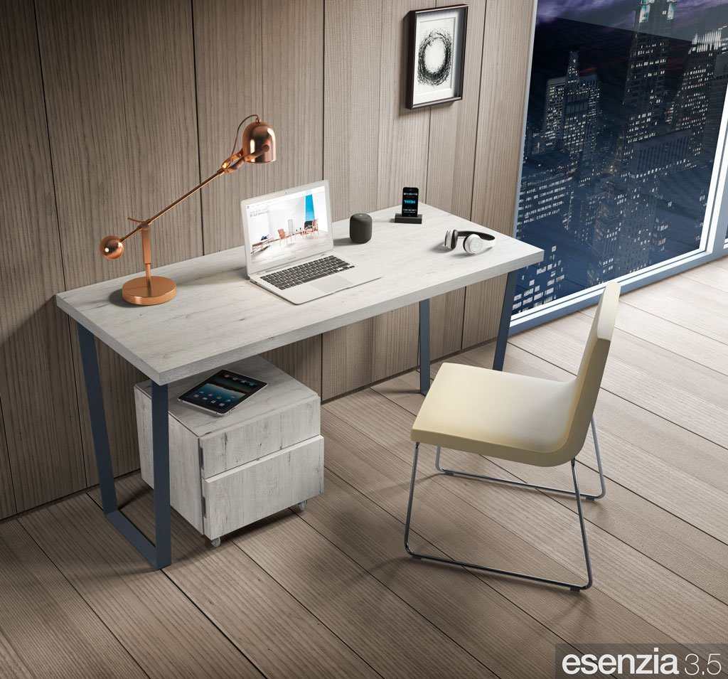 Mesa de escritorio para el dormitorio con las patas metálicas