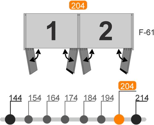 Medidas de los armarios de cuatro puertas batientes modelo L