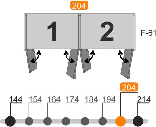 Medidas de los armarios de cuatro puertas batientes modelo V