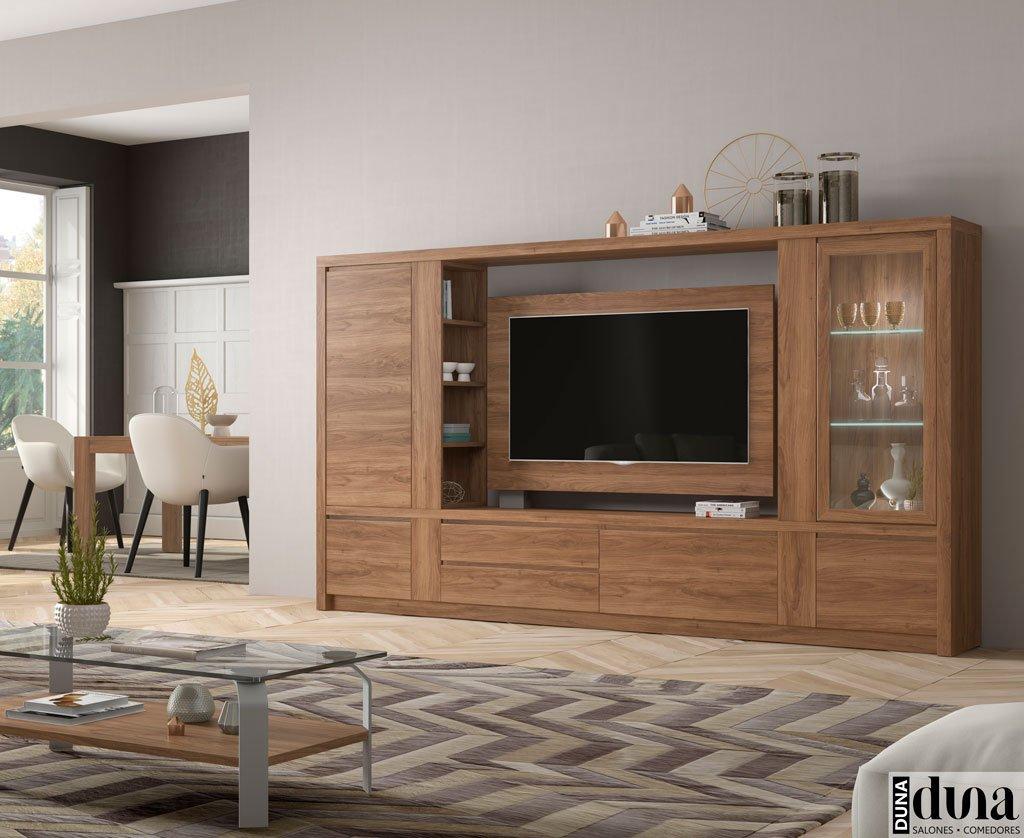 Composición compacta de un mueble para el salón