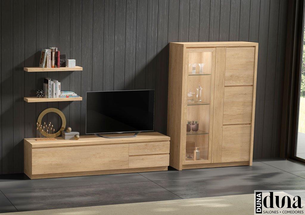 Composición minimalista de muebles para el salón