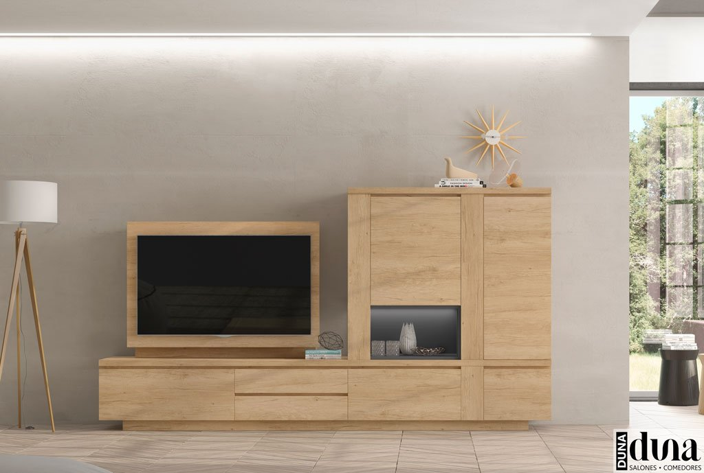 Mobiliario muy actual para el salón con un mueble TV