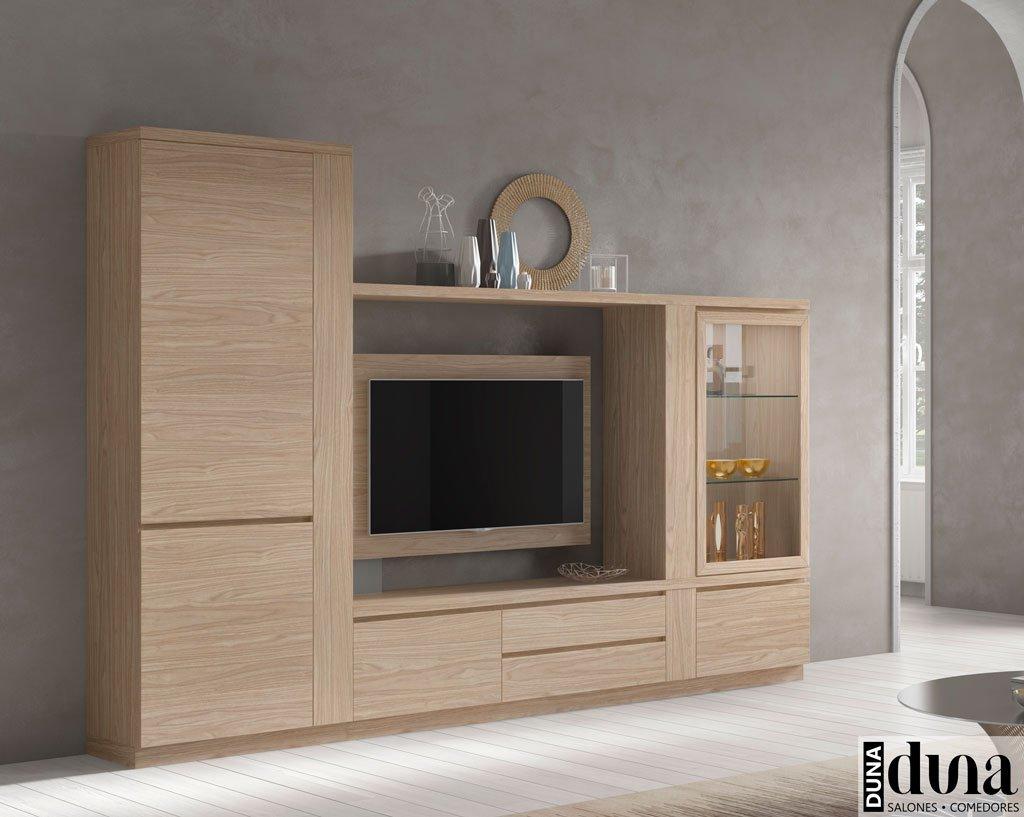 Composición para salón en color Arce con mueble TV giratorio