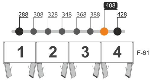 Medidas de los armarios de ocho puertas batientes modelo L