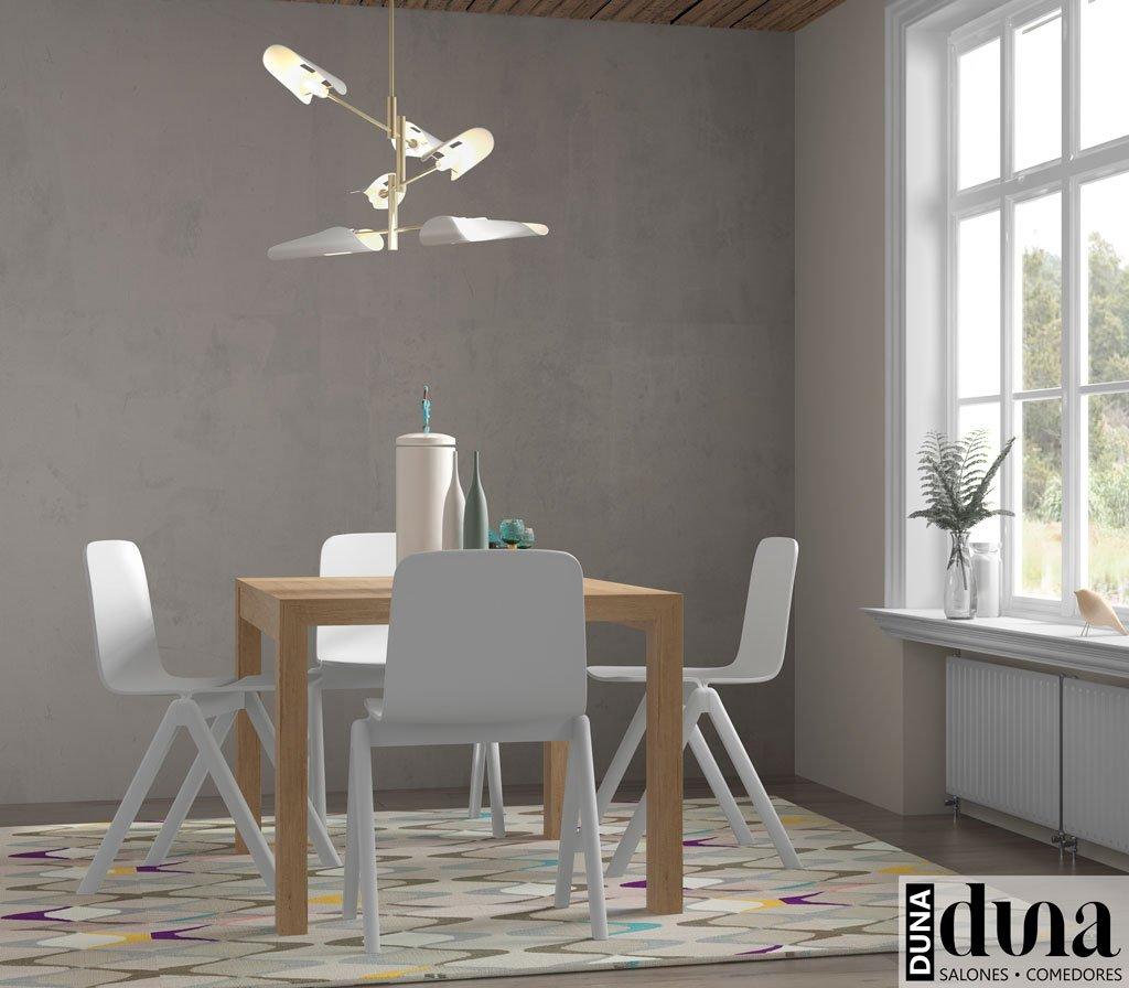 Mesa extensible modelo U para el comedor en color Teka