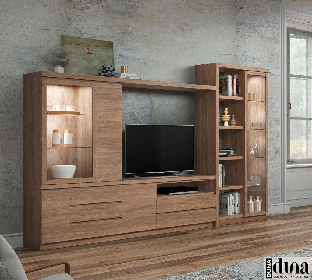 Muebles para el salón con unas vitrinas verticales