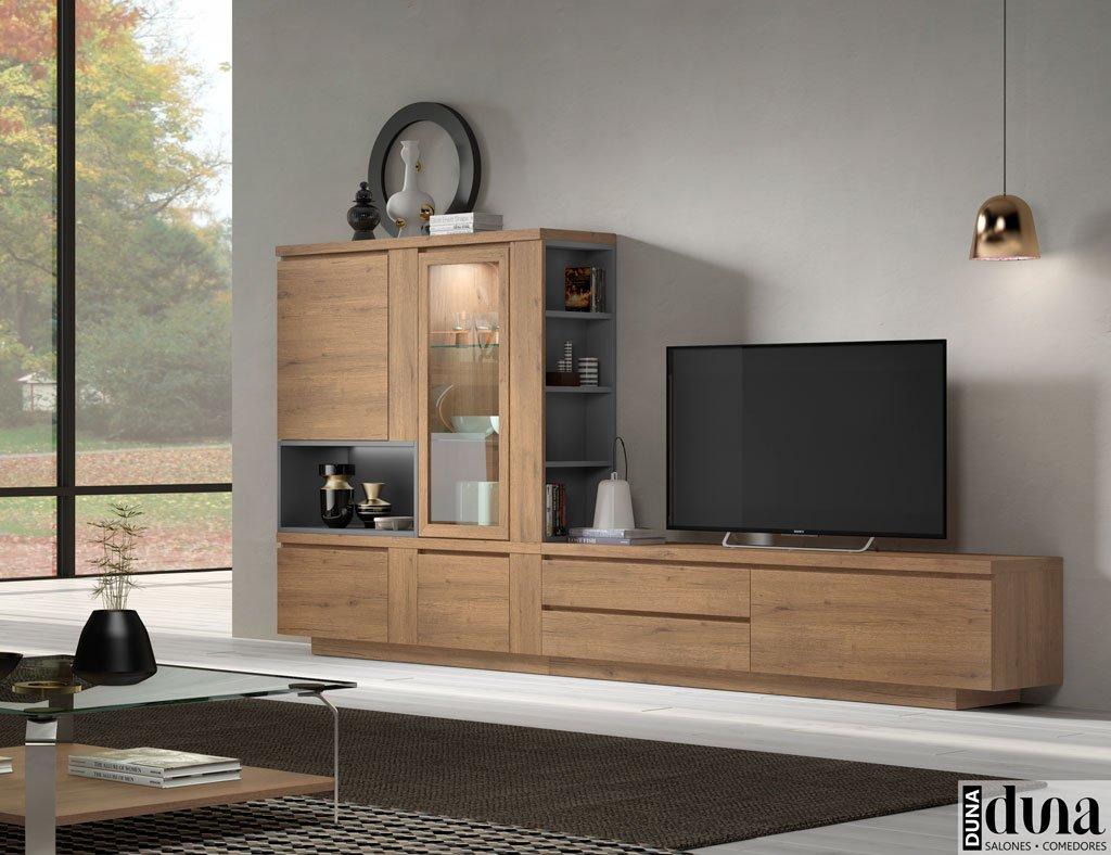 Muebles para el salón con estantería interior muy decorativa