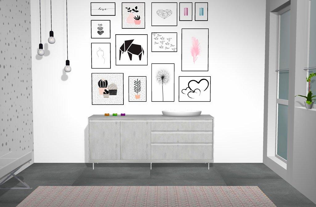 Aparador en color Fresno con un estilo Nórdico más minimalista