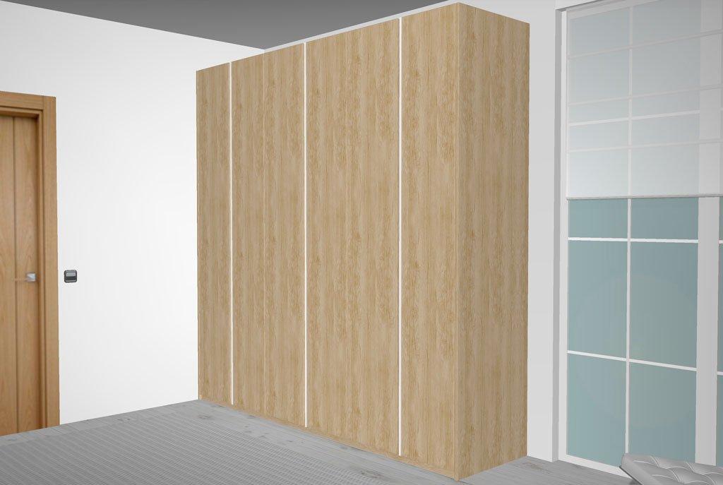Armario grande de seis puertas batientes en color Teka