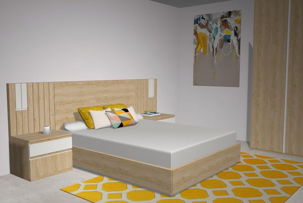 Una cama con somier abatible que tiene una doble utilidad