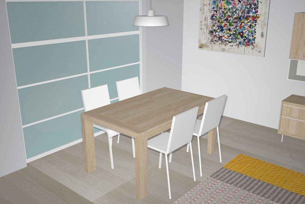 Mesa de comedor extensible en color Bambú