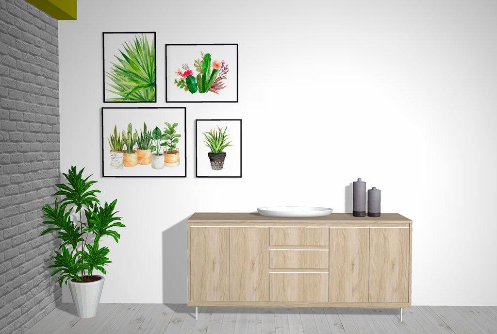 El estilo del salón se identifica por el color que tienen los muebles