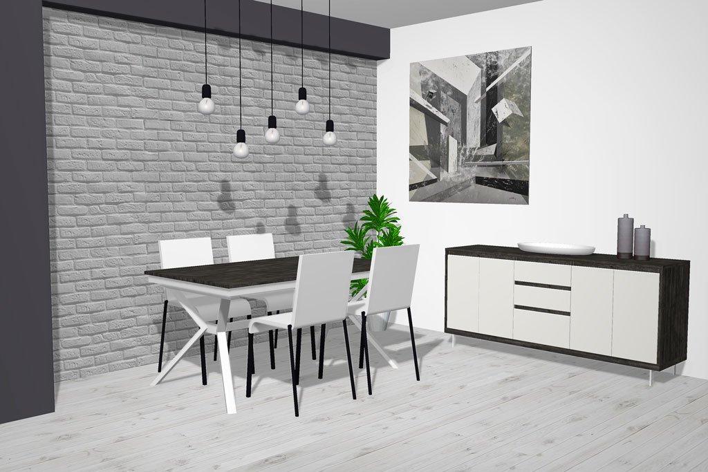 Muebles combinados en color Borneo y Blanco White