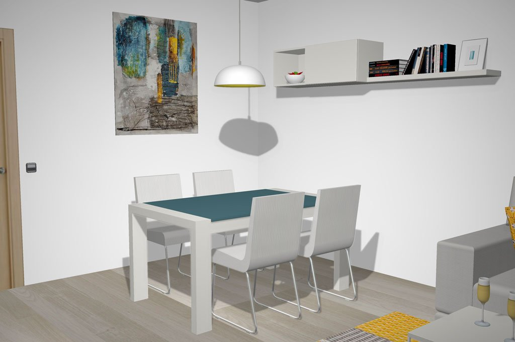 Mesa de comedor extensible toda de madera