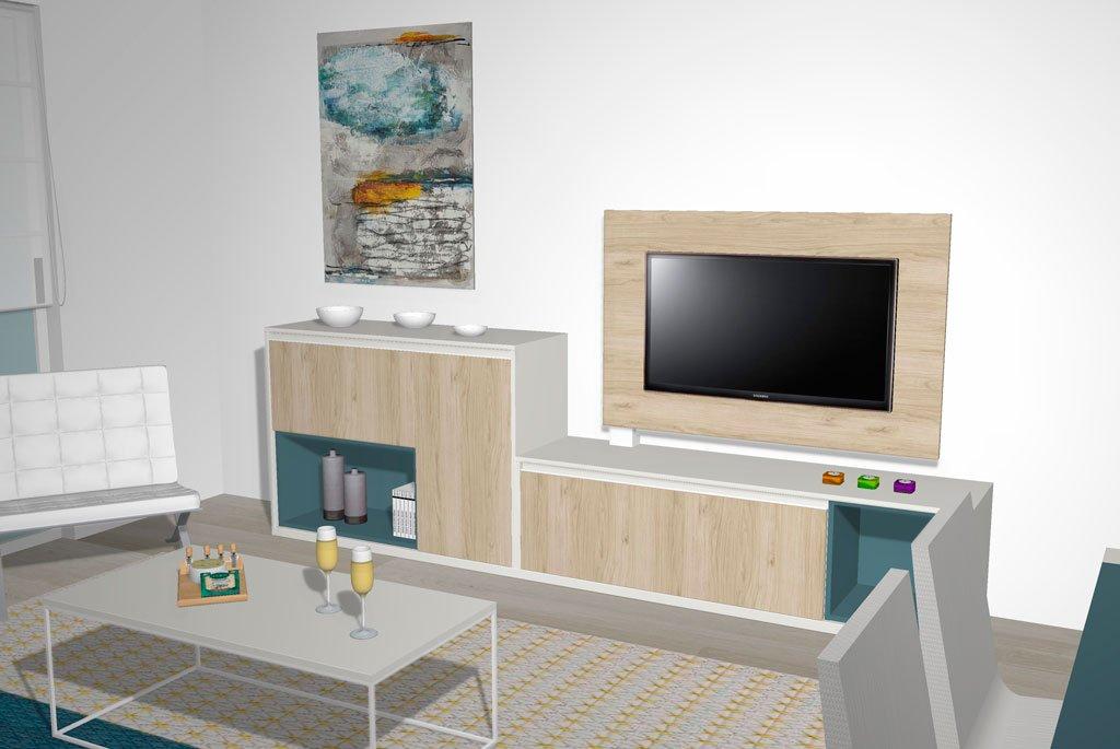 Panel TV giratorio muy fácil de utilizar con un pie metálico