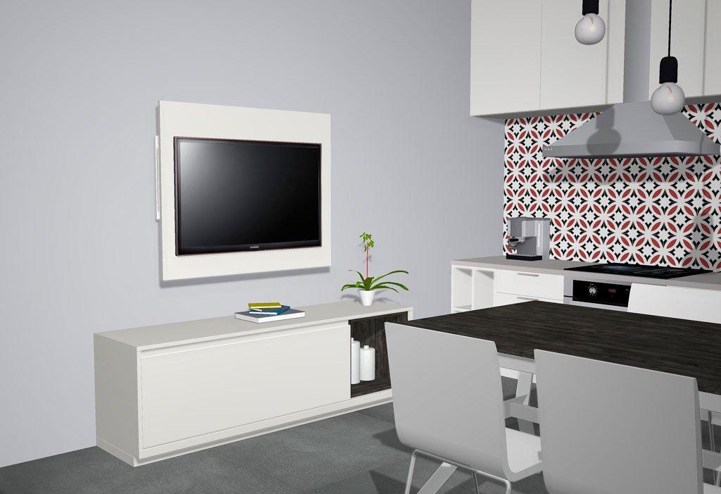 Un modelo de panel TV directo a la pared