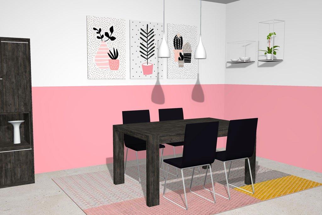 Mesa de comedor extensible de estilo contemporáneo
