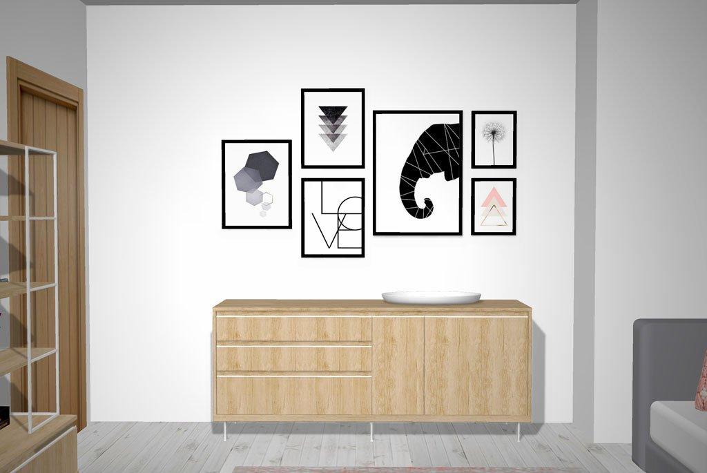 Mueble aparador KAY con puertas y cajones