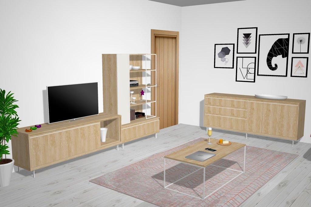 Diseño de salón comedor pensado para gente como TÚ, moderno y actual