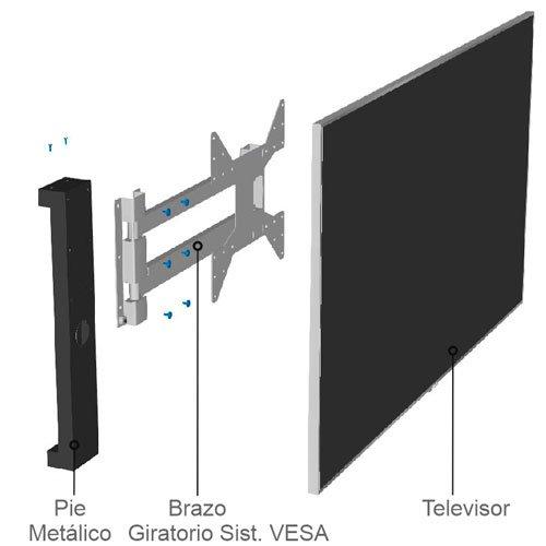 Las diferentes piezas que componen el panel TV 120