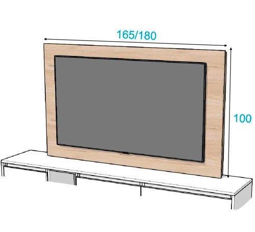 Las dos medidas que tiene el panel TV 122